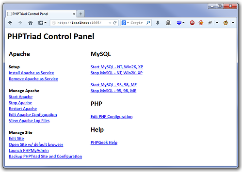PHP_Triad_Control_Panel