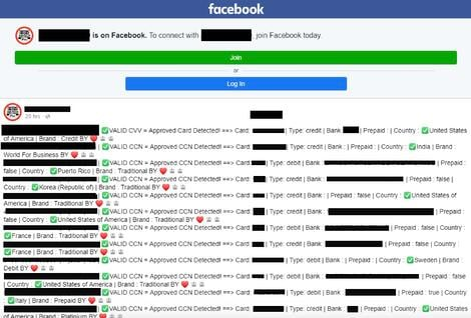 Facebook cc leak
