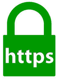 Green Pad Lock HTTPS