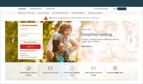 Phishing site copy