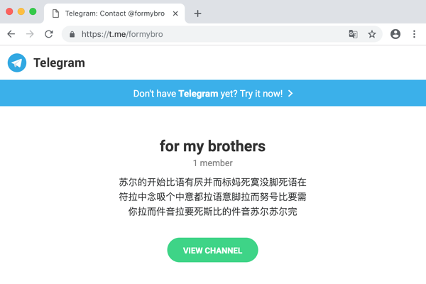 Telegram Anubis C2 Message Chinese