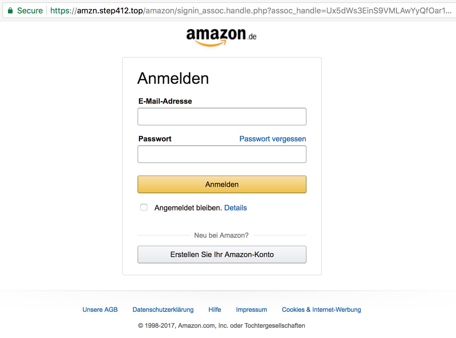amazon https phishing site example